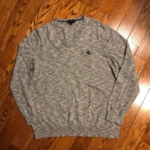 Express Men's thin V-Neck Sweater Sz L 100% cotton